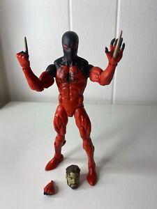 Marvel-Legends-SP-Dr-serie-Scarlet-Spider-Comme-neuf-Spiderman-tres-difficile-a-trouver