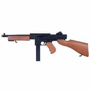 Airsoft Thompson M1A1 Spring Rifle Tommy Gun REAL SCALE Chicago Typewriter M306F