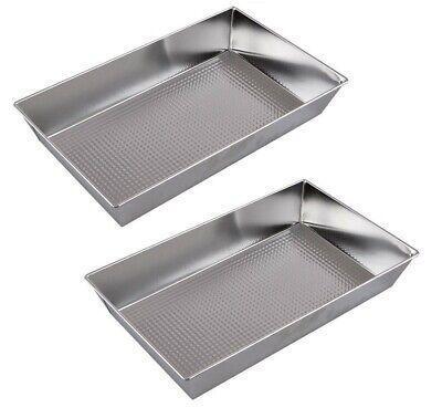 2 X Cottura Testurizzato Vassoio/muffa Grande Vassoio Bake 39x23x7cm-