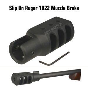 NEW-Slip-On-Ruger-1022-10-22-Muzzle-Brake-Tanker-Style