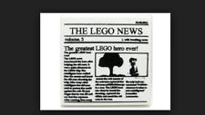 New Lego 2X2 THE LEGO NEWS newspaper tile  B386