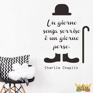 Adesivi Murali Charlie Chaplin.Dettagli Su Adesivi Murali Charlie Chaplin Un Giorno Senza Un Sorriso E Un Giorno Perso
