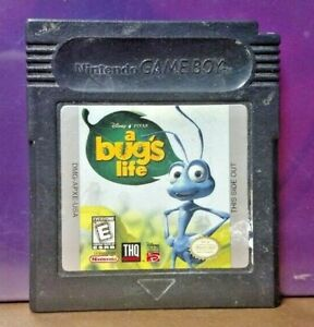 A Bug's Life Disney -  Game Boy Color GB Rare TESTED GBA Advance GBC Nintendo
