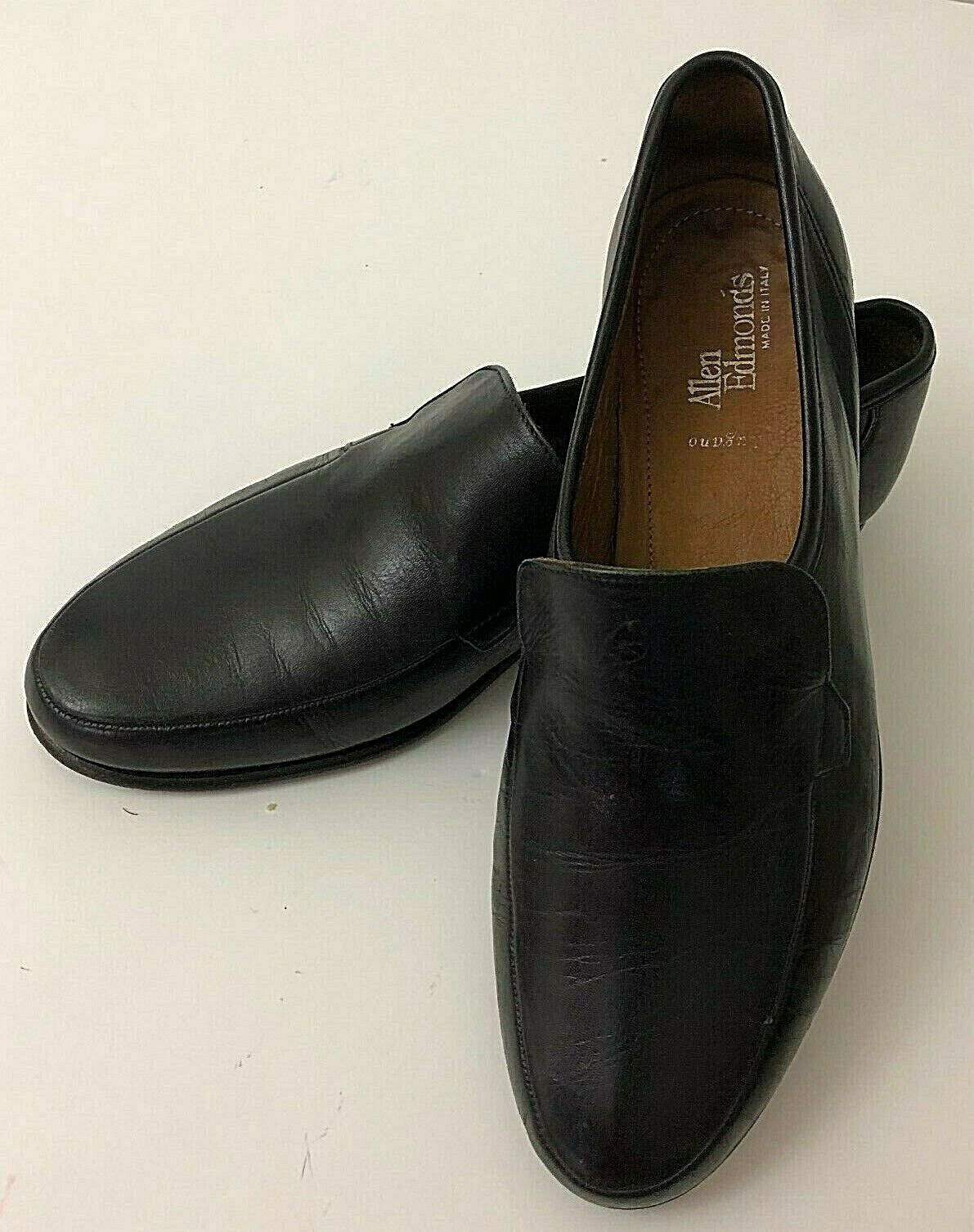 Allen Edmonds Lugano 49910 Loafers US Mens Size 9 D Black Leather Made In