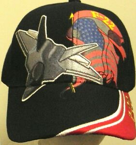 c40208bfc9c17 Details about US AIR FORCE USAF BOING LOCKHEED MARTIN F-22 F22 RAPTOR  FIGHTER AIRCRAFT CAP HAT