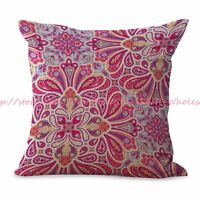 Us Seller-retro Flower Cushion Cover Decorative Throw Pillow Case For Couch