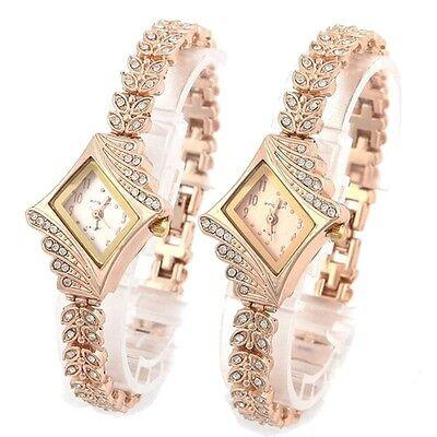 New Fashion Women Crystal Quartz Rhombus Bracelet Bangle Wrist Watch Pop
