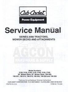 cub cadet 2160 2165 2185 2000 series service manual ih ebay rh ebay com cub cadet 2185 service manual free download Cub Cadet HDS 2185 Drive Replacement Barrel