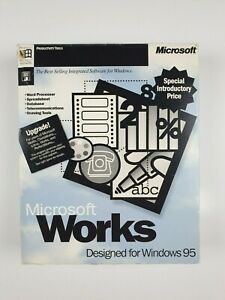 Microsoft-Works-4-0-For-Windows-95-Big-Box-With-Manuals-Floppy-Disks-and-Discs