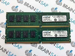 8GB-2x-4GB-DDR4-2133-RAM-Crucial-CT4G4DFS8213-1Rx8-PC4-17000-2133-MHz