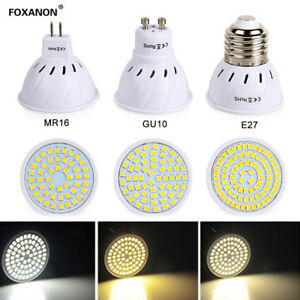 LED-Spot-Lights-Bulb-E27-GU10-MR16-4W-6W-8W-2835-SMD-White-Lamp-AC-240V-220V