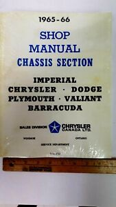 1965-66-CHRYSLER-Chassis-Shop-Manual-Reproduction-New-Sealed-Condition