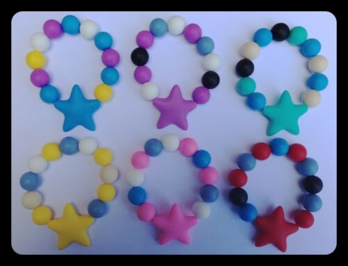 STAR Smaller Teething Bracelet Autism Sensory Chewing Baby Shower