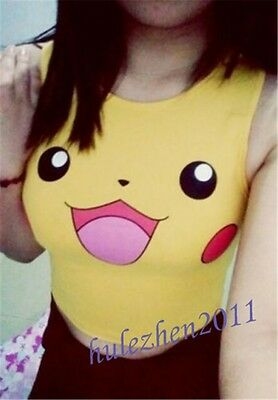 Pokemon Pikachu Sexy Cute Costume Knickers Panties Shorts Underwear Sleeveless