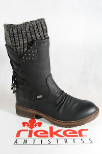innovative design c5ef5 190ed Details zu Rieker Stiefel Stiefelette Boots Stiefeletten Winterstiefel  schwarz Tex 94773