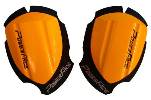 Power FACE legno ginocchio SMERIGLIATRICE Wood Knee Slider RACE Arancione Neon