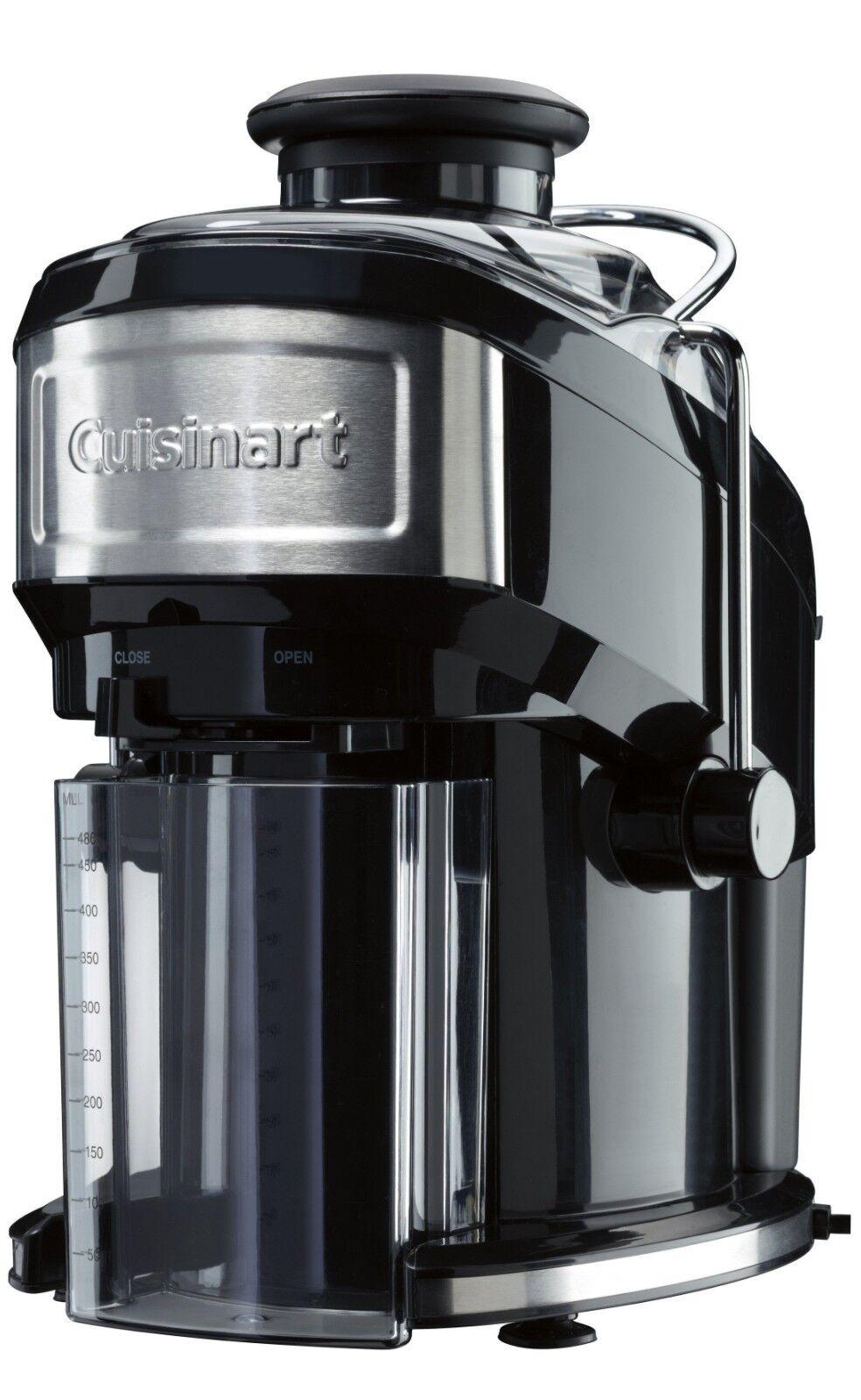 Cuisinart CJE500E Centrifugeuse compacte, Noire   Acier brossé