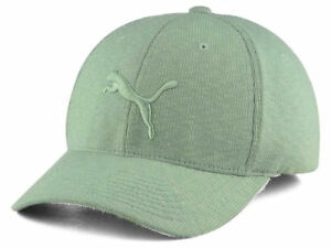 half off f23e5 2755c Image is loading Puma-Gray-Corduroy-Textured-FlexFit-Stretch-Fitted-Hat-