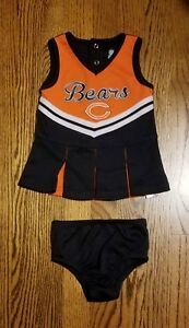 quality design 0ecc3 6ffcb Details about Baby Girl NFL TEAM APPAREL Chicago Bears Cheerleader Outfit 2  Piece 12M