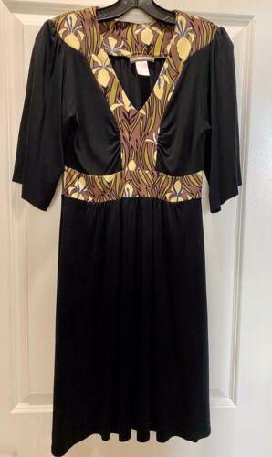 Praire NY Black Silk Med Dress