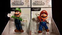 Super Mario Brothers Mario And Luigi Collectible Figurine Set Of 2