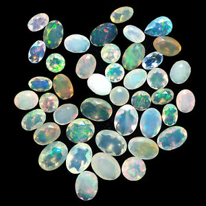 Natural-Opal-43-Pcs-4mm-7mm-Faceted-Mix-Cut-Untreated-Finest-Quality-Gemstones
