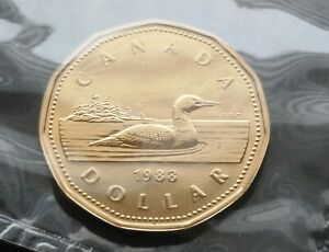 CANADA-LOONIE-1988-PROOF-LIKE-SEALED-COIN