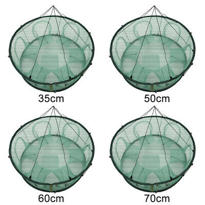 Round Shape Automatic Fishing Net Trap Cage Open For Crab Crayfish Lobster
