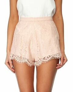 Image Is Loading Keepsake White Electric Shorts Peach Color Lace
