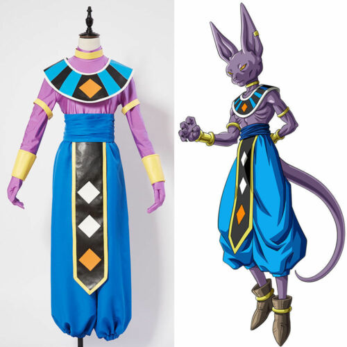 Dragonball S Dragon Ball Super God of Destruction Beerus Cosplay Costume FF.60