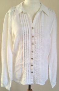 Lovely-Ladies-Marks-Spencer-Per-Una-White-Long-Sleeve-Linen-Shirt-14