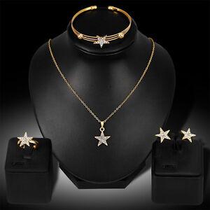 EG-Women-Rhinestone-Star-Charm-Necklace-Earrings-Bracelet-Ring-Jewelry-Set-Opti