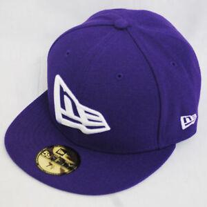 New Era 59fifty Flag Flat Peak Fitted Navy Black Grey Purple Hat Cap