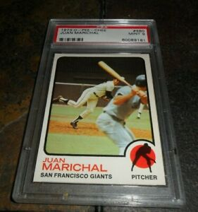1973 O-Pee-Chee OPC #480 JUAN MARICHAL SAN FRANCISCO GIANTS PSA MINT 9