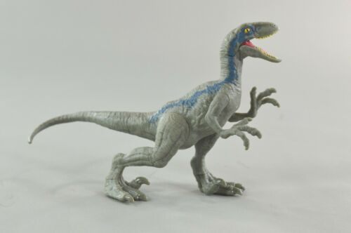 Jurassic World Fallen Kingdom Attaque Pack Velociraptor Bleu Raptor Mattel L1