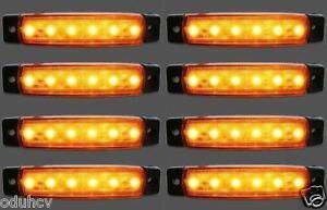 8 Stück 12V Led Bernstein Orange Seitliche Begrenzungsleuchte Blinker Anhänger