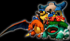 Pokemon GO Ash Charizard Venusaur Blastoise Snorlax Custom Playmat/Mouse Pad #20