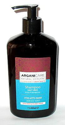 ARGANICARE 400 ml MOROCCAN ARGAN OIL SHEA HAIR SHAMPOO FOR DRY DAMAGED HAIR
