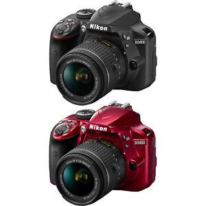 Nikon D3400 24.2 MP DSLR Camera w/ AF-P DX 18-55mm VR Lens Kit - Choose Color