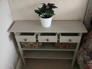 H90 W90 D30cm BESPOKE LAURA ASHLEY French Grey CONSOLE TABLE 3