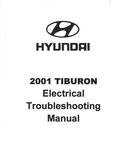 2001 Hyundai Tiburon Oem Electrical Wiring Diagrams Manual