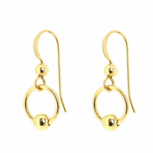 ORIGINALE 14K Gold Filled Dangle Orecchini a sfera-DISTINTIVI 14K GF