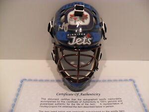 Laurent Brossoit Autographed Signed Winnipeg Jets Helmet Mask Coa Nice Graph Ebay