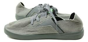 Sanuk-Mens-Pick-Pocket-Lace-Up-Sneakers-Charcoal-9-New