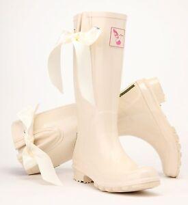 Image Is Loading Las Evercreatures Cream I Do Wedding Wellies Bridal