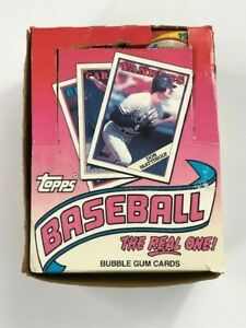 1988-Topps-Baseball-Bubble-Gum-Cards-Box-36-Wax-Packs-Unopened