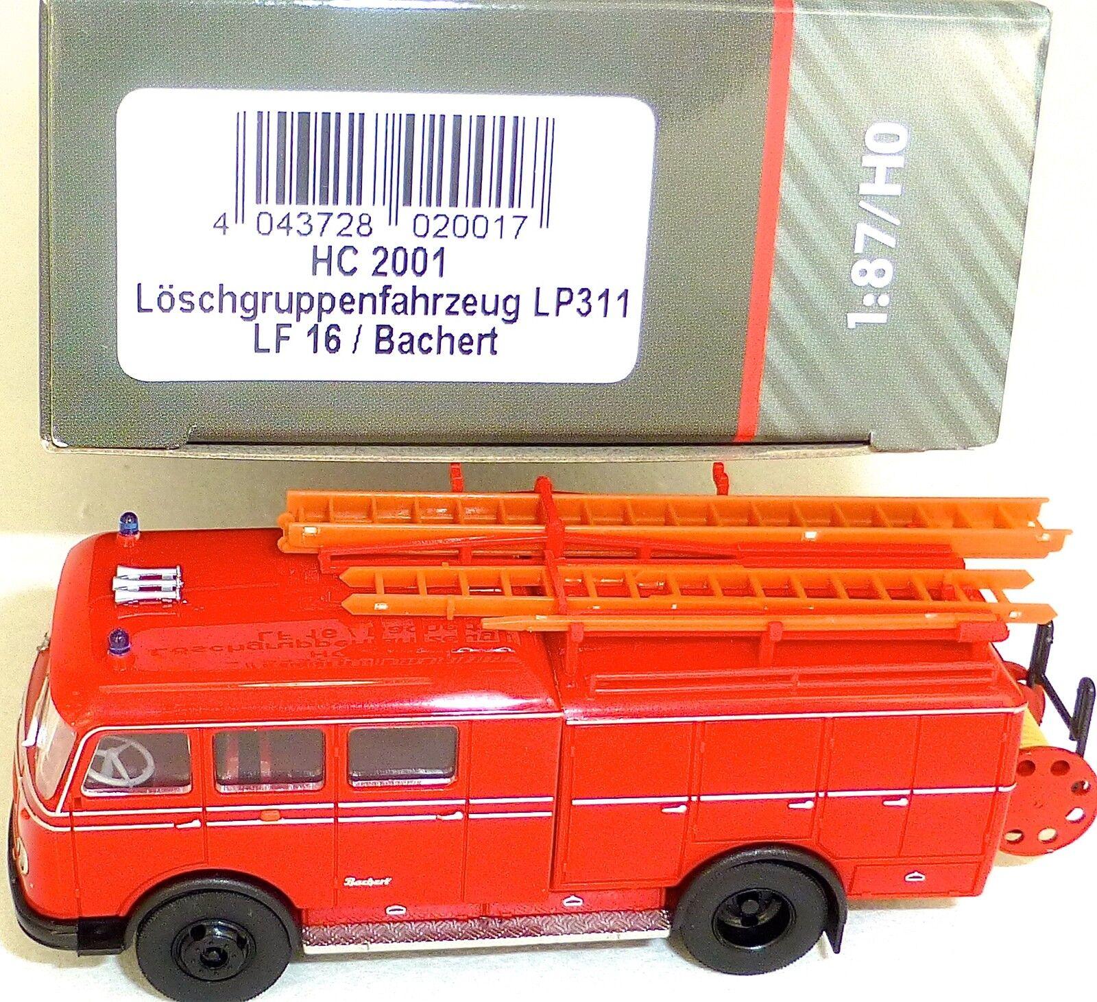 Löschgruppenfahrzeug LP311 LF16 bachert feuerwehr heico hc 2001 H0 1 87 Neu µ