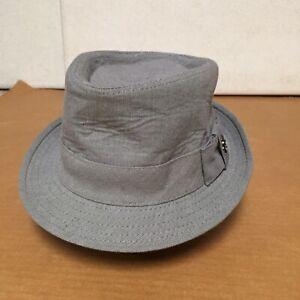 ORIGINAL-PENGUIN-HAT-BY-MUNSINGWEAR-Gray-FABRIC-FEDORA-HAT-M-L-EUC