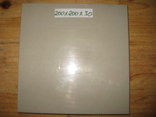 PP Kunststoffblock Beige 200x200x30