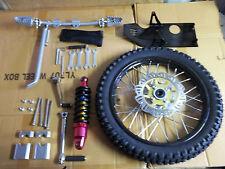 gio 125cc front wheel, rotor,kick start,shock,shift lever,skid plate ( black)